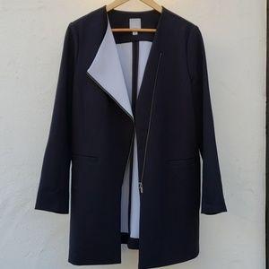 Halogen Asymmetrical Zip up Coat